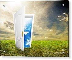 Open Door To New Life Acrylic Print by Michal Bednarek