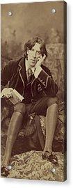 Oscar Wilde 1882 Acrylic Print by Napoleon Sarony