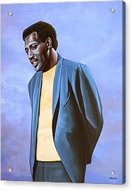 Otis Redding Painting Acrylic Print by Paul Meijering