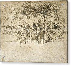 Paris Champs Elysees Acrylic Print by Granger