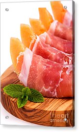Parma Ham And Melon Acrylic Print by Jane Rix