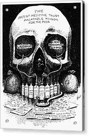 Patent Medicine Cartoon Acrylic Print by Granger