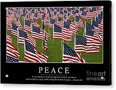 Peace Inspirational Quote Acrylic Print by Stocktrek Images