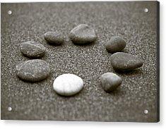 Pebbles Acrylic Print by Frank Tschakert