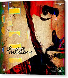 Phil Collins Collection Acrylic Print by Marvin Blaine