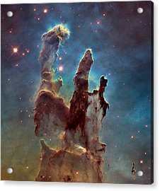 Pillars Of Creation Acrylic Print by Nasa