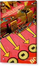 Pinball Machine Acrylic Print by Bernard Jaubert