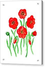 Poppies Acrylic Print by Irina Sztukowski