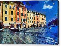 Portofino In Italy Acrylic Print by George Atsametakis