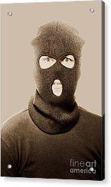 Portrait Of A Vintage Terrorist Acrylic Print by Jorgo Photography - Wall Art Gallery