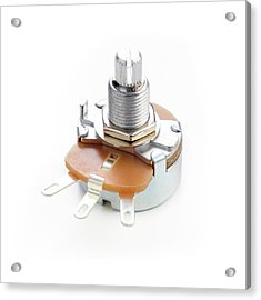 Potentiometer Acrylic Print by Science Photo Library