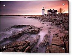 Prospect Harbor Light Acrylic Print by Patrick Downey