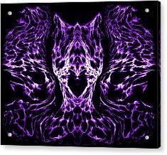 Purple Series 4 Acrylic Print by J D Owen