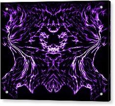Purple Series 8 Acrylic Print by J D Owen