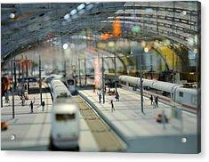Railway Station Acrylic Print by Gynt