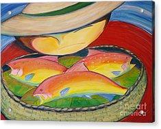 Rainbow Fish Acrylic Print by Teresa Hutto