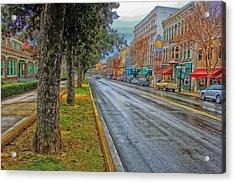 Rainy Day In Hot Springs Arkansas Acrylic Print by Mountain Dreams