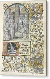 Raising Of Lazarus Acrylic Print by British Library
