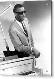 Ray Charles Acrylic Print by Retro Images Archive