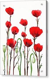 Red Poppies Acrylic Print by Irina Sztukowski