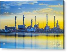 Refinery Industrial Plant Acrylic Print by Anek Suwannaphoom
