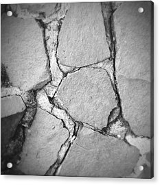 Rock Wall Acrylic Print by Les Cunliffe
