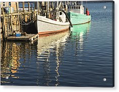 Rockland Maine Fishing Boats And Harbor Acrylic Print by Keith Webber Jr
