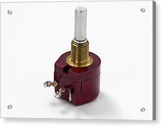 Rotary Potentiometer Acrylic Print by Trevor Clifford Photography