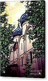 Russian Church Acrylic Print by Sarah Loft