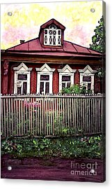 Russian House Acrylic Print by Sarah Loft