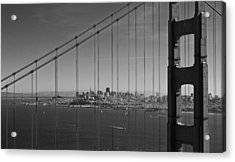 San Francisco Through Golden Gate Bridge Acrylic Print by Twenty Two North Photography