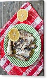 Sardines Acrylic Print by Tom Gowanlock