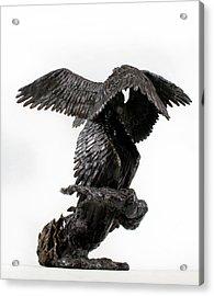 Seraph Angel A Religious Bronze Sculpture By Adam Long Acrylic Print by Adam Long