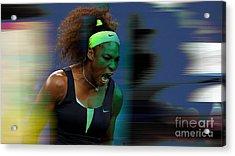Serena Williams Acrylic Print by Marvin Blaine