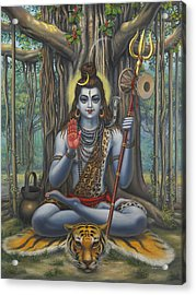 Shiva Acrylic Print by Vrindavan Das