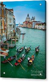 Six Gondolas Acrylic Print by Inge Johnsson