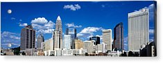 Skyscrapers In A City, Charlotte Acrylic Print by Panoramic Images
