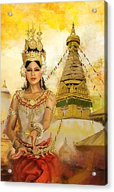 South East Asian Art Acrylic Print by Corporate Art Task Force