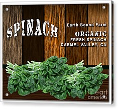 Spinach Patch Acrylic Print by Marvin Blaine