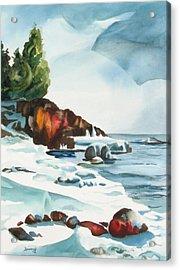 Splitrock Cove Acrylic Print by Steve Brumbaugh