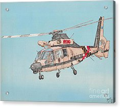 State Police Helicopter Acrylic Print by Calvert Koerber