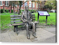 Statue Of Alan Turing Acrylic Print by Martin Bond