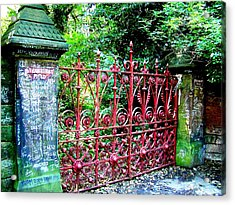 Strawberry Field Gates Acrylic Print by Steve Kearns