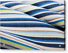 Striped Material Acrylic Print by Tom Gowanlock