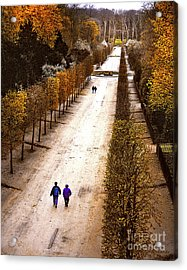 Strolling Versailles Acrylic Print by Barbara D Richards
