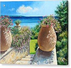 Sunny Terrace Acrylic Print by Jean-Marc Janiaczyk