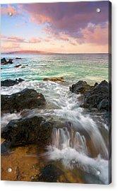 Sunrise Surge Acrylic Print by Mike  Dawson