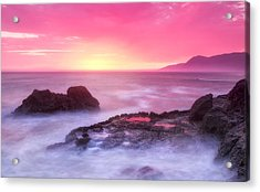 Sunset At Shelter Cove Acrylic Print by Chris Frost