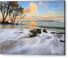 Sunset Tides Acrylic Print by Mike  Dawson