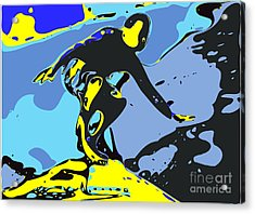 Surfer Acrylic Print by Chris Butler